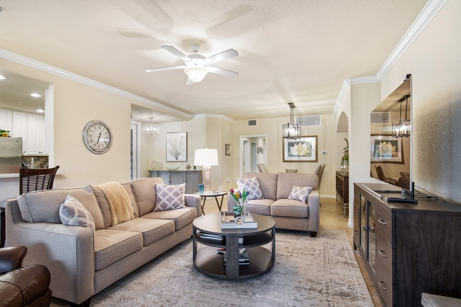 Real Estate Photography - 28550 Carlow Ct 504, Bonita Springs, FL, 34135 - Living Room
