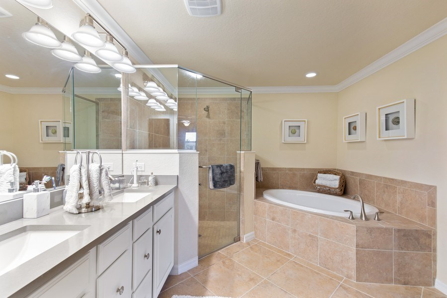 Real Estate Photography - 28550 Carlow Ct 504, Bonita Springs, FL, 34135 - Master Bathroom
