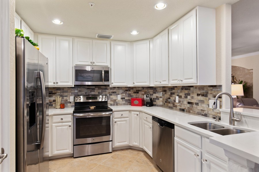 Real Estate Photography - 28550 Carlow Ct 504, Bonita Springs, FL, 34135 - Kitchen