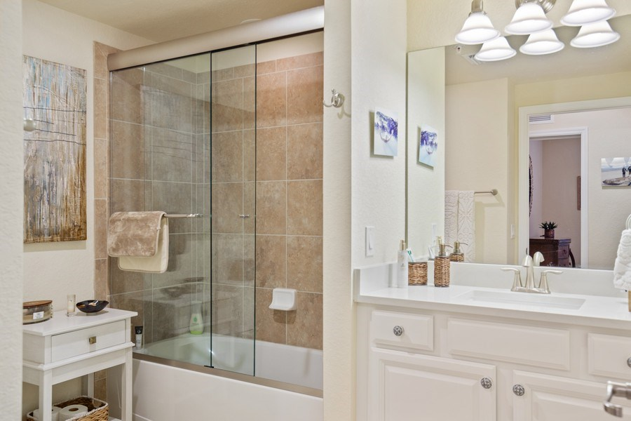 Real Estate Photography - 28550 Carlow Ct 504, Bonita Springs, FL, 34135 - 2nd Bathroom