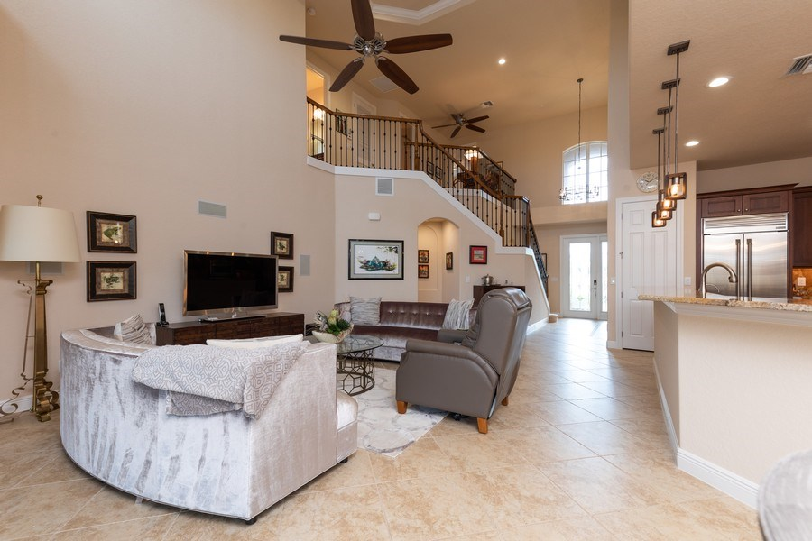 Real Estate Photography - 7856 Martino Circle, Naples, FL, 34112 - Great room