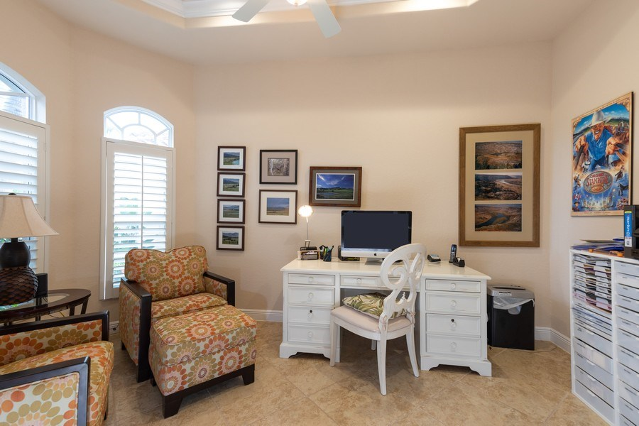 Real Estate Photography - 7856 Martino Circle, Naples, FL, 34112 - Office