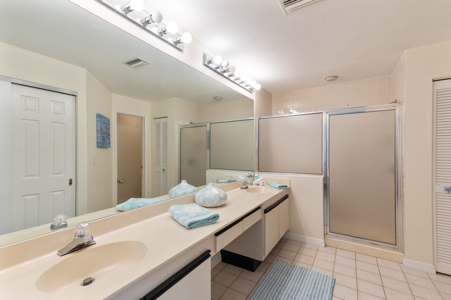 Real Estate Photography - 833 Reef Point Circle, Naples, FL, 34108 - Master Bathroom