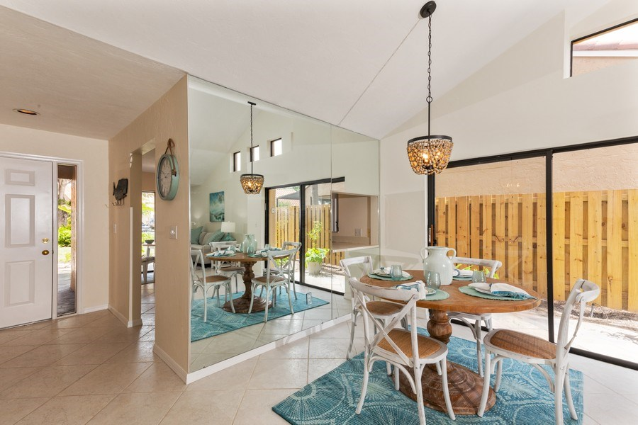 Real Estate Photography - 833 Reef Point Circle, Naples, FL, 34108 - Foyer/Dining Room