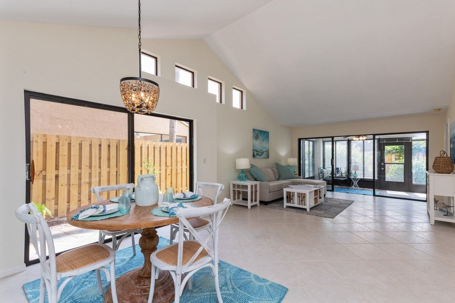 Real Estate Photography - 833 Reef Point Circle, Naples, FL, 34108 - Living Room/Dining Room