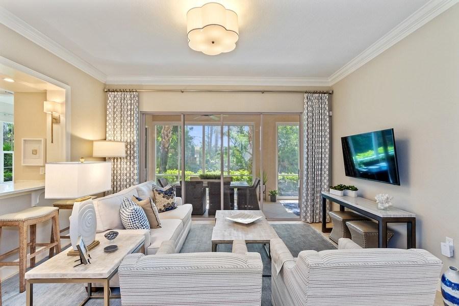 Real Estate Photography - 23751 Merano Ct, Unit 101, Bonita Springs, FL, 34134 - Living Room