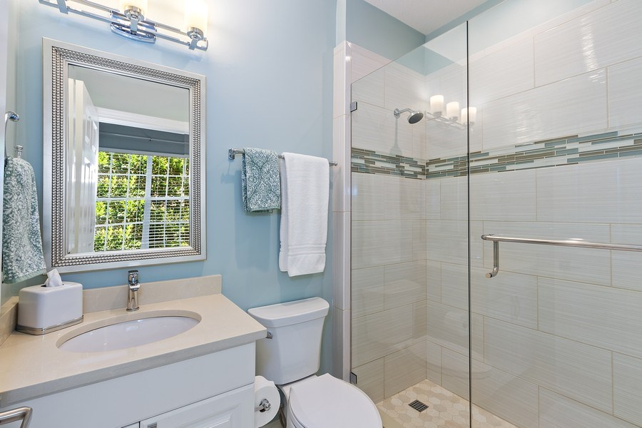 Real Estate Photography - 23751 Merano Ct, Unit 101, Bonita Springs, FL, 34134 - 3rd Bathroom