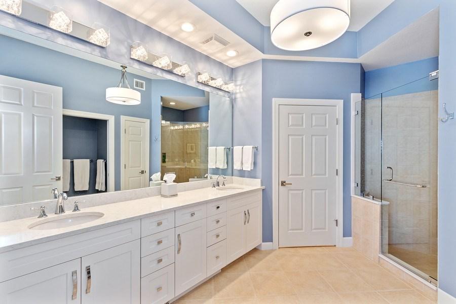Real Estate Photography - 23751 Merano Ct, Unit 101, Bonita Springs, FL, 34134 - Master Bathroom