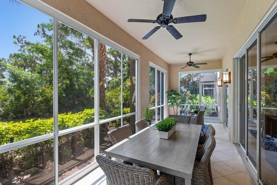 Real Estate Photography - 23751 Merano Ct, Unit 101, Bonita Springs, FL, 34134 - Lanai