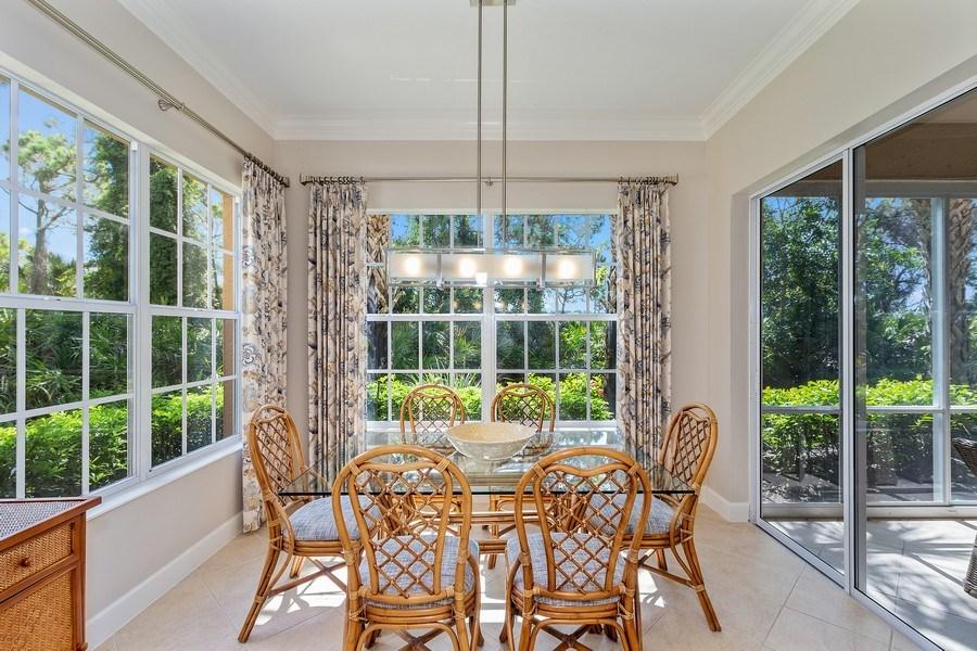Real Estate Photography - 23751 Merano Ct, Unit 101, Bonita Springs, FL, 34134 - Breakfast Nook