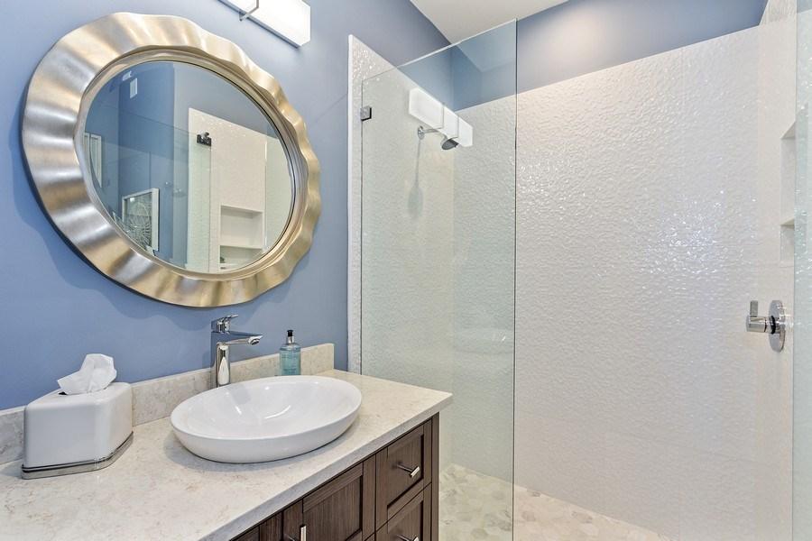 Real Estate Photography - 23751 Merano Ct, Unit 101, Bonita Springs, FL, 34134 - 2nd Bathroom