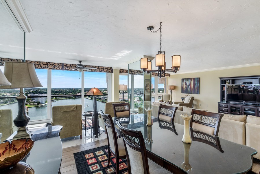 Real Estate Photography - 4031 Gulf Shore Blvd, N PH2D, Naples, FL, 34103 - Dining
