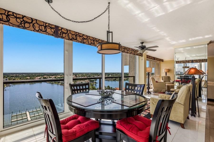 Real Estate Photography - 4031 Gulf Shore Blvd, N PH2D, Naples, FL, 34103 - Breakfast Area