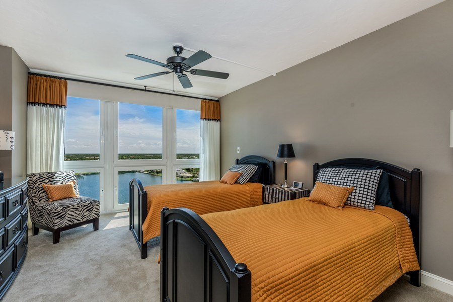 Real Estate Photography - 4031 Gulf Shore Blvd, N PH2D, Naples, FL, 34103 - 2nd Bedroom