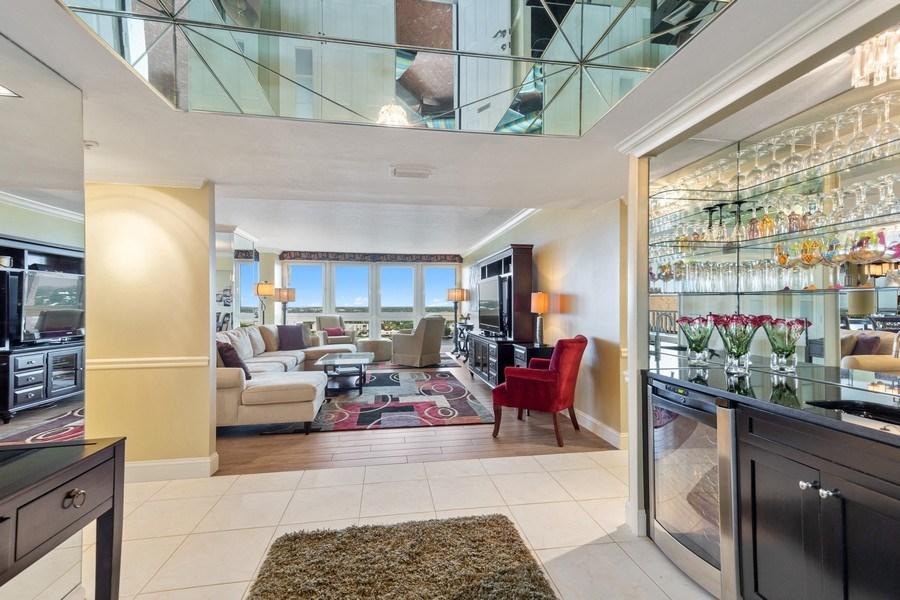 Real Estate Photography - 4031 Gulf Shore Blvd, N PH2D, Naples, FL, 34103 - Foyer