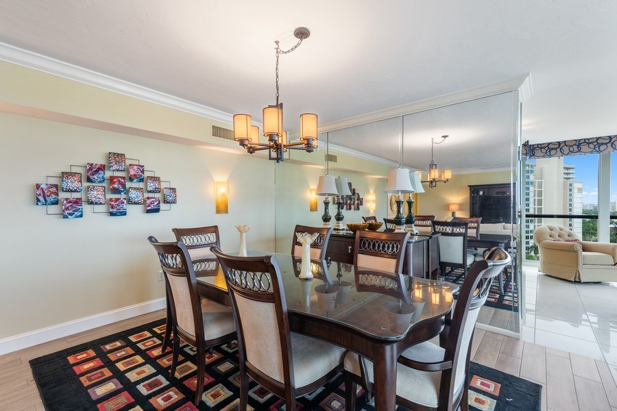 Real Estate Photography - 4031 Gulf Shore Blvd, N PH2D, Naples, FL, 34103 - Dining Room