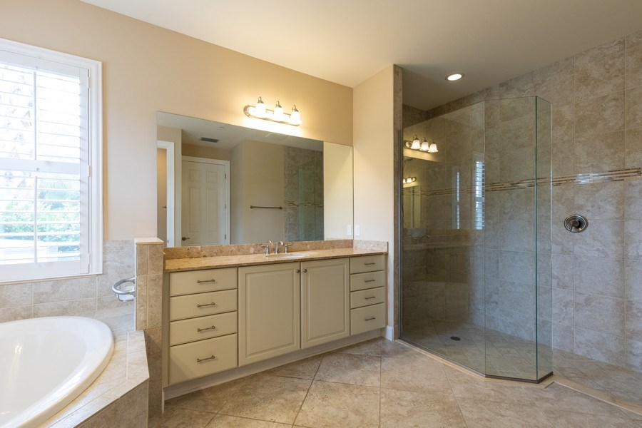 Real Estate Photography - 4600 Colony Villa, Unit 1301, Bonita Springs, FL, 34135 - Master Bathroom