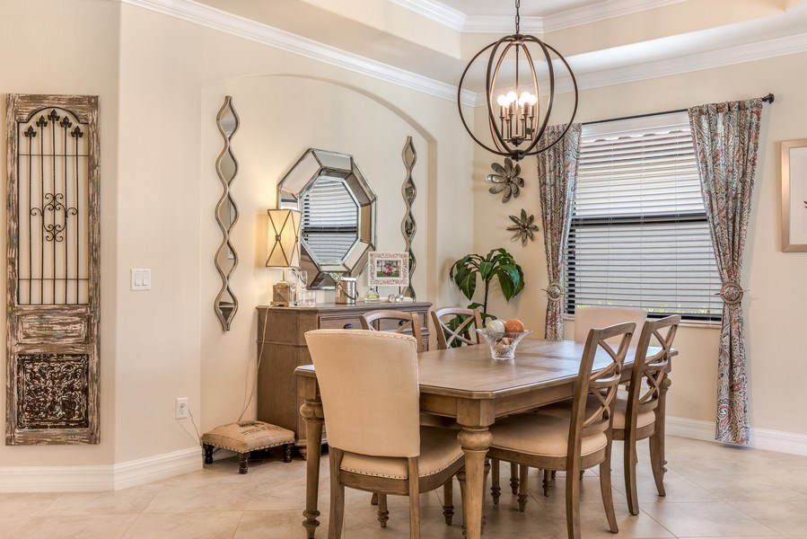 Real Estate Photography - 28537 Westmeath ct, Bonita Springs, FL, 34235 - Dining Room