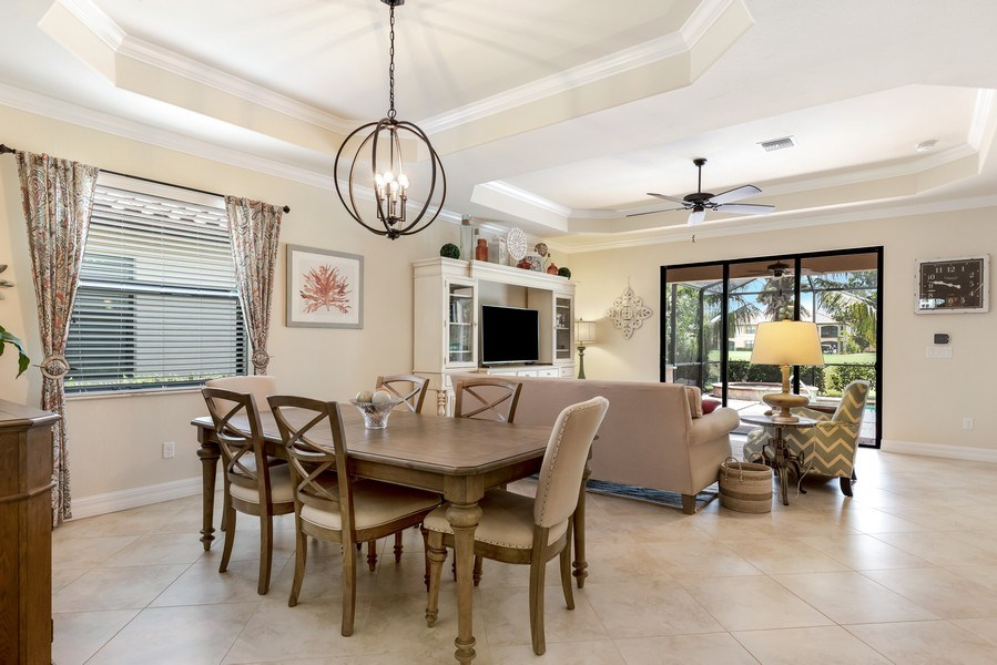 Real Estate Photography - 28537 Westmeath ct, Bonita Springs, FL, 34235 - Living Room/Dining Room