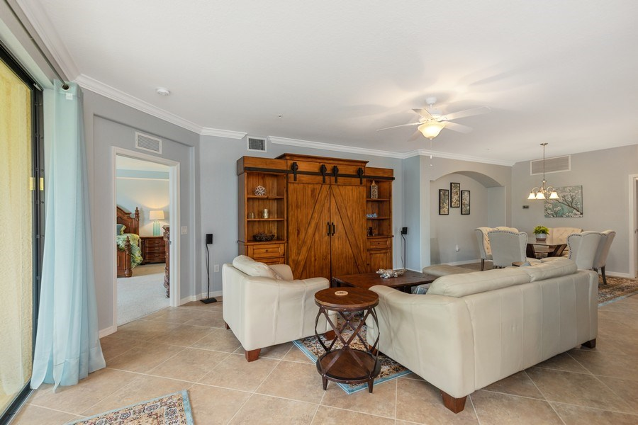 Real Estate Photography - 28021 Cookstown Ct, Unit 3601, Bonita Springs, FL, 34135 - Living Room
