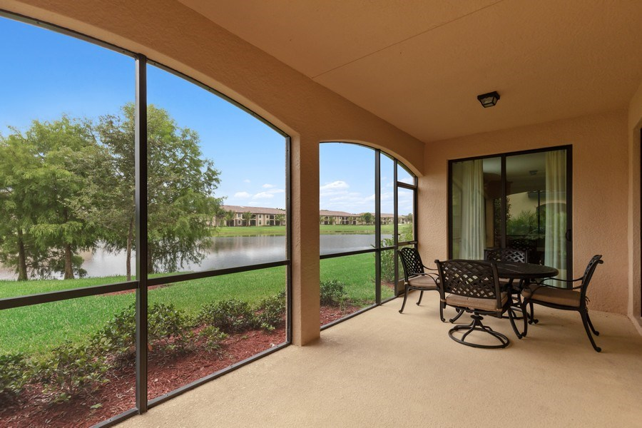 Real Estate Photography - 28021 Cookstown Ct, Unit 3601, Bonita Springs, FL, 34135 - Lanai