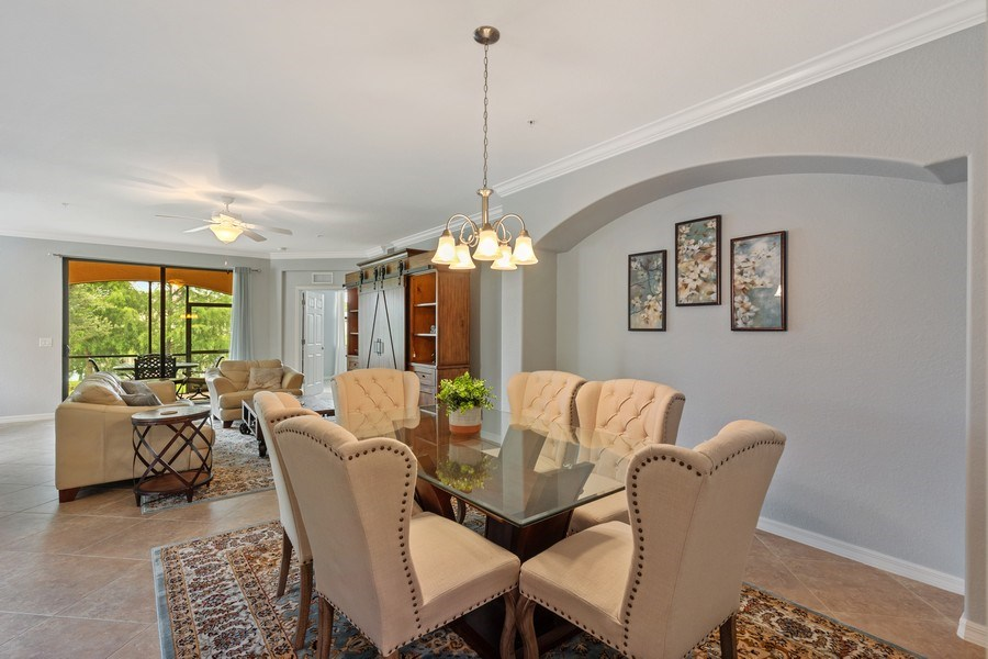 Real Estate Photography - 28021 Cookstown Ct, Unit 3601, Bonita Springs, FL, 34135 - Living Room/Dining Room