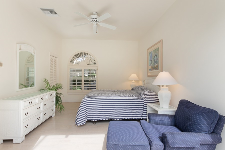 Real Estate Photography - 4240 Sanctuary Way, Bonita Springs, FL, 34134 - Guest House Bedroom