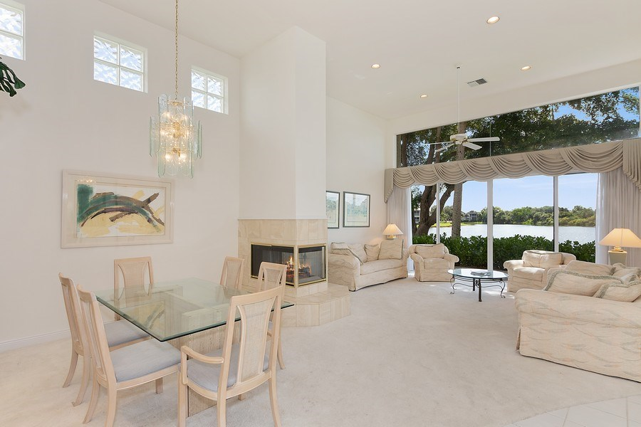 Real Estate Photography - 4240 Sanctuary Way, Bonita Springs, FL, 34134 - Living Room / Dining Room