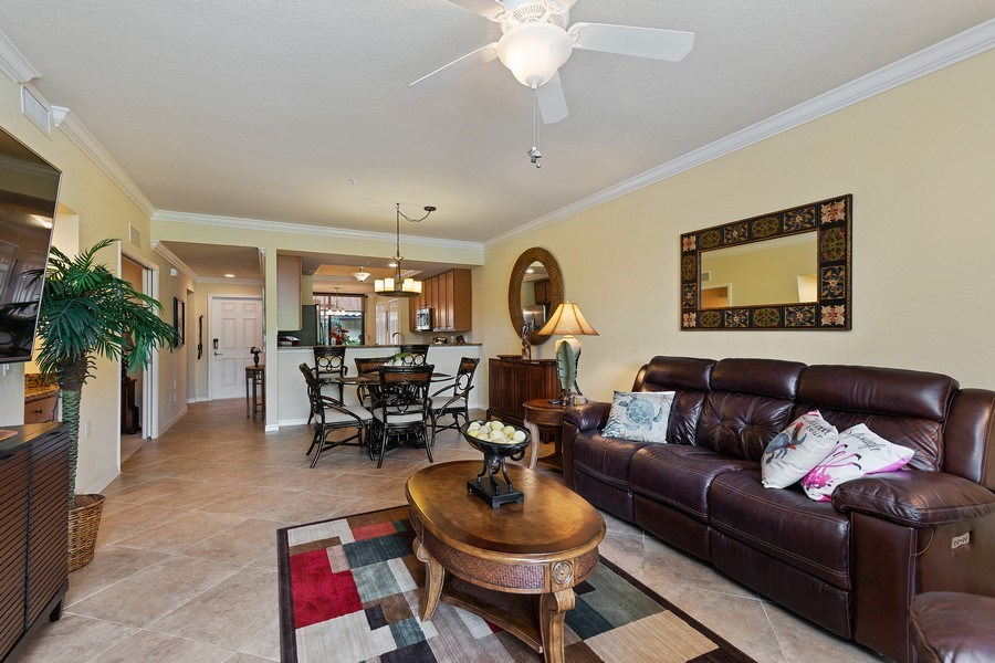 Real Estate Photography - 17970 BONITA NATIONAL BLVD, 1815, BONITA SPRINGS, FL, 34135 - Living Room