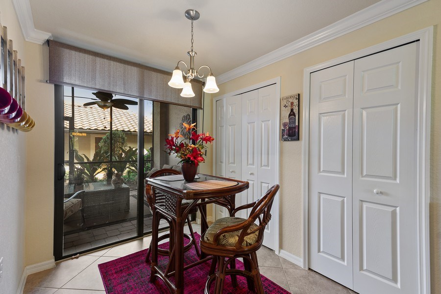 Real Estate Photography - 17970 BONITA NATIONAL BLVD, 1815, BONITA SPRINGS, FL, 34135 - Breakfast Area