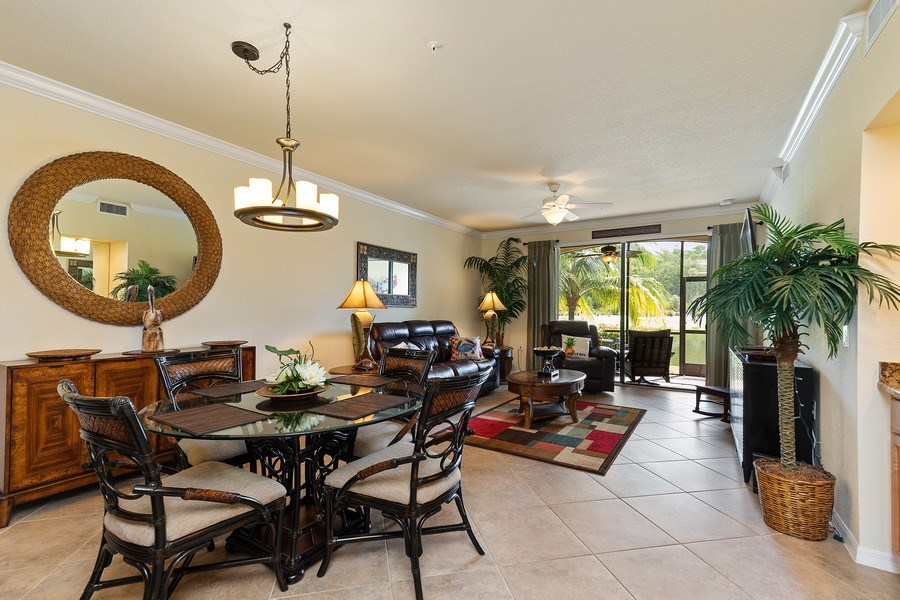 Real Estate Photography - 17970 BONITA NATIONAL BLVD, 1815, BONITA SPRINGS, FL, 34135 - Living Room/Dining Room