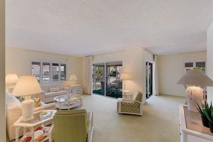 Real Estate Photography - 1930 Gulf Shore Blvd N, B201, Naples, FL, 34102 - Living Room