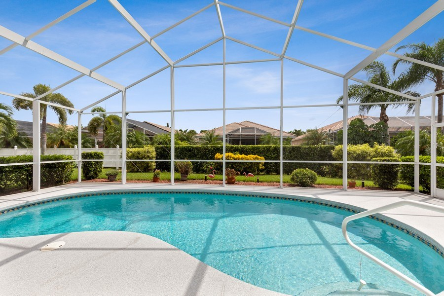 Real Estate Photography - 216 Glen Eagle Circle, Naples, FL, 34104 - Pool