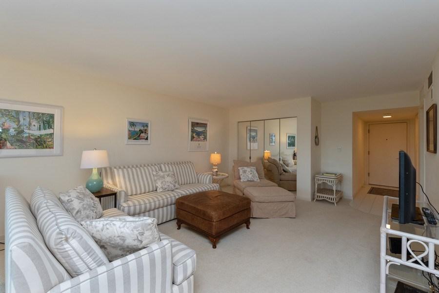 Real Estate Photography - 3410 Gulf Shore Blvd N, 202, Naples, FL, 34103 - Living Room