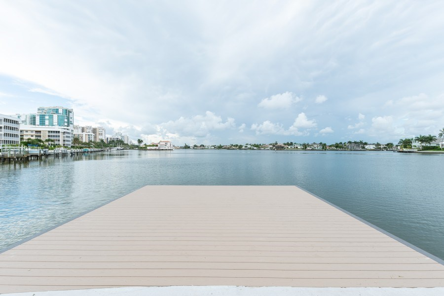 Real Estate Photography - 3410 Gulf Shore Blvd N, 202, Naples, FL, 34103 - Fishing Dock