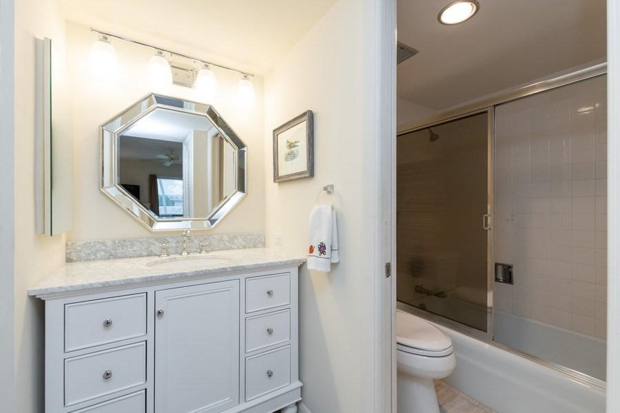Real Estate Photography - 3410 Gulf Shore Blvd N, 202, Naples, FL, 34103 - Master Bathroom