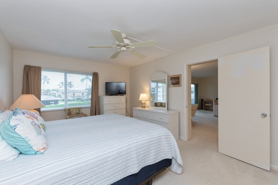 Real Estate Photography - 3410 Gulf Shore Blvd N, 202, Naples, FL, 34103 - Master Bedroom