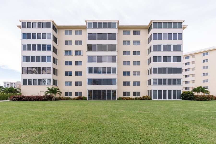 Real Estate Photography - 3410 Gulf Shore Blvd N, 202, Naples, FL, 34103 - Rear View