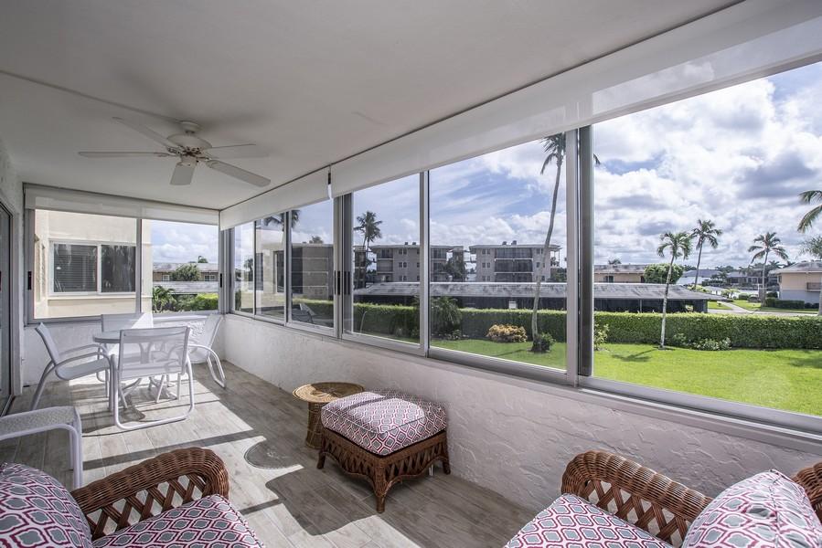 Real Estate Photography - 3410 Gulf Shore Blvd N, 202, Naples, FL, 34103 - Lanai
