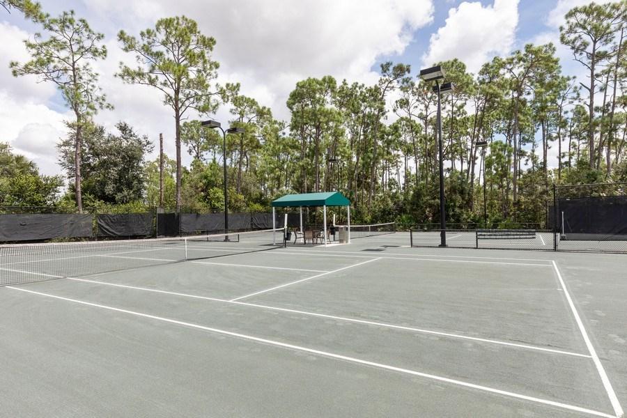 Real Estate Photography - 5892 Northridge Dr, Naples, FL, 34110 - Tennis Court