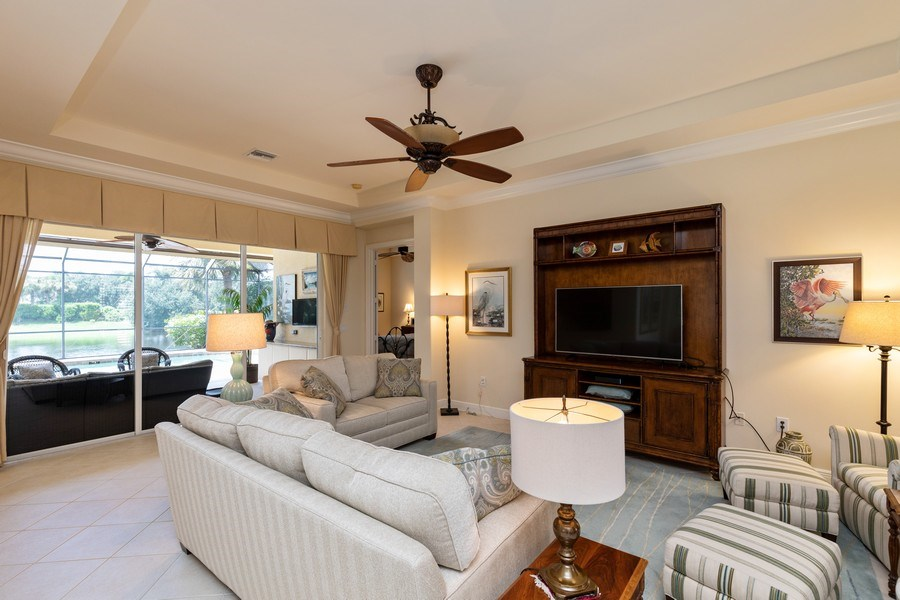 Real Estate Photography - 18240 Parkside Greens Drive, Ft Myers, FL, 33908 - Living Room