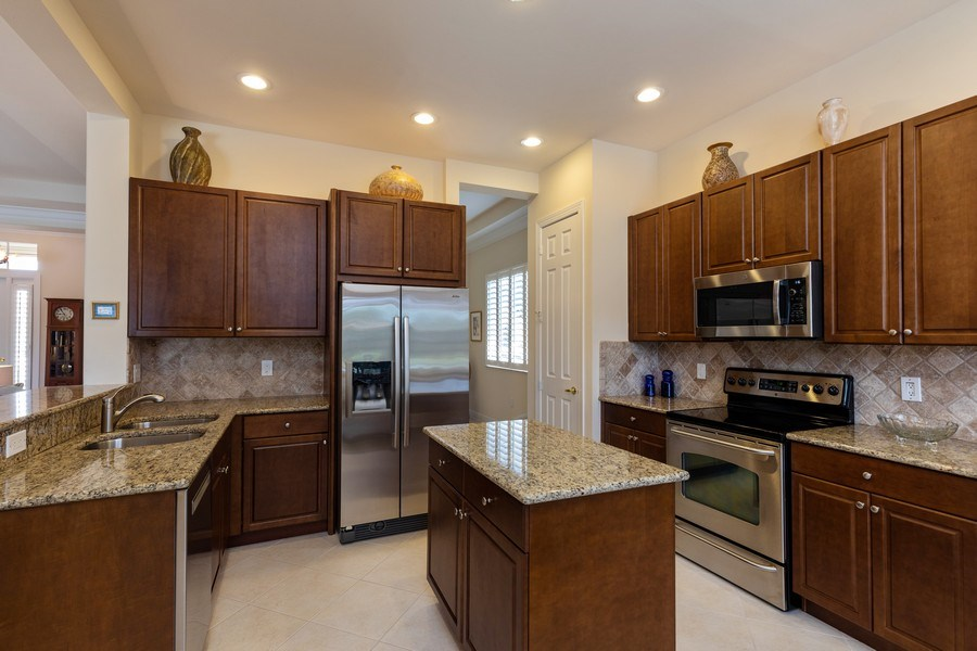 Real Estate Photography - 18240 Parkside Greens Drive, Ft Myers, FL, 33908 - Kitchen