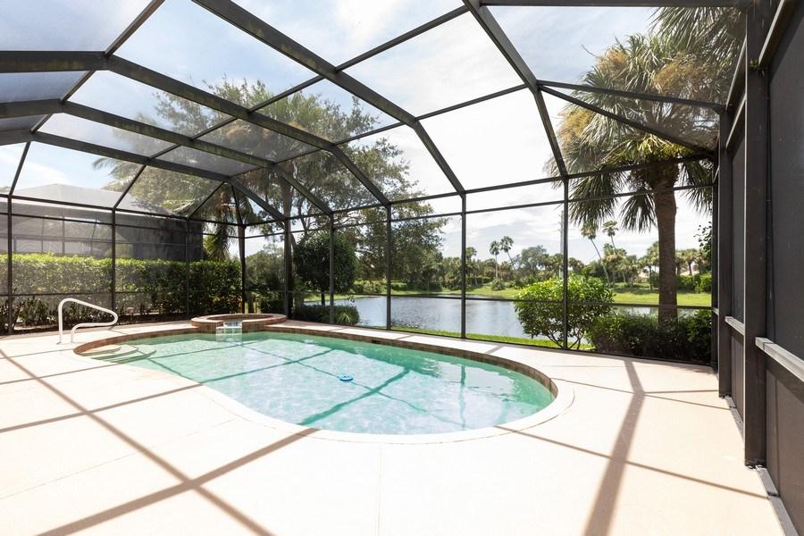 Real Estate Photography - 18240 Parkside Greens Drive, Ft Myers, FL, 33908 - Back Yard