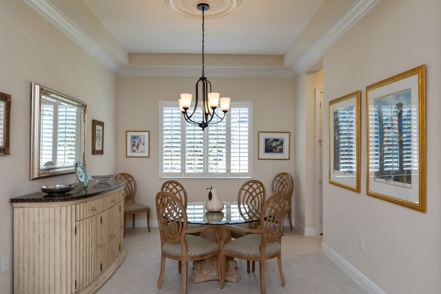 Real Estate Photography - 18240 Parkside Greens Drive, Ft Myers, FL, 33908 - Dining Room