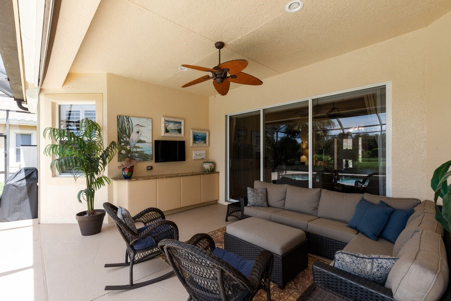 Real Estate Photography - 18240 Parkside Greens Drive, Ft Myers, FL, 33908 - Lanai