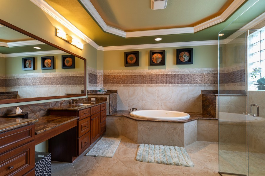 Real Estate Photography - 7786 Martino Circle, Naples, FL, 34112 - Master Bathroom