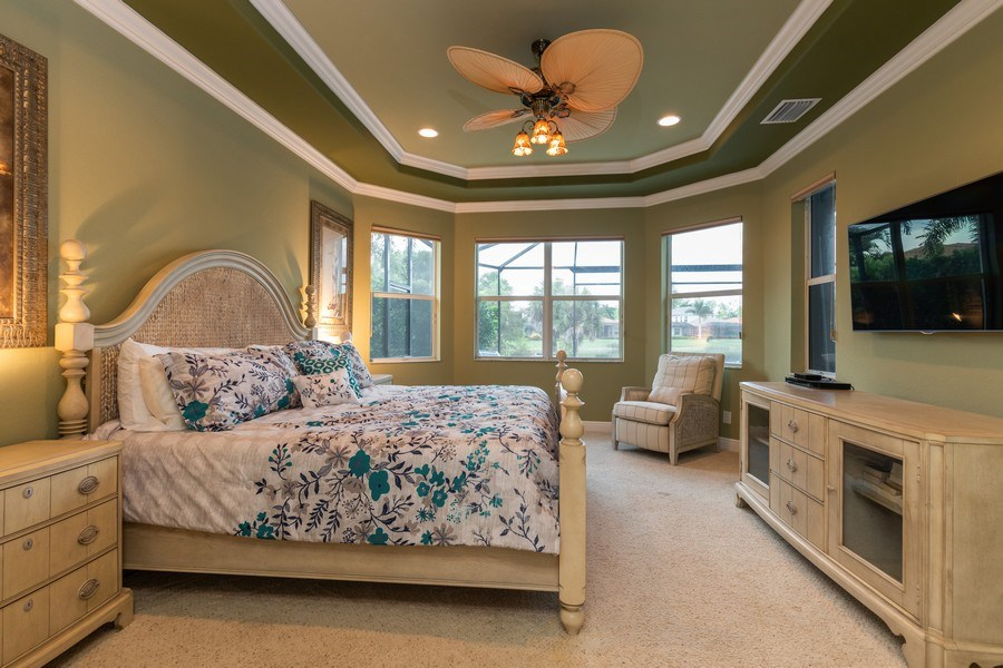 Real Estate Photography - 7786 Martino Circle, Naples, FL, 34112 - Master Bedroom
