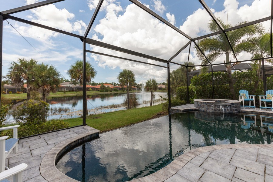 Real Estate Photography - 7786 Martino Circle, Naples, FL, 34112 - Pool