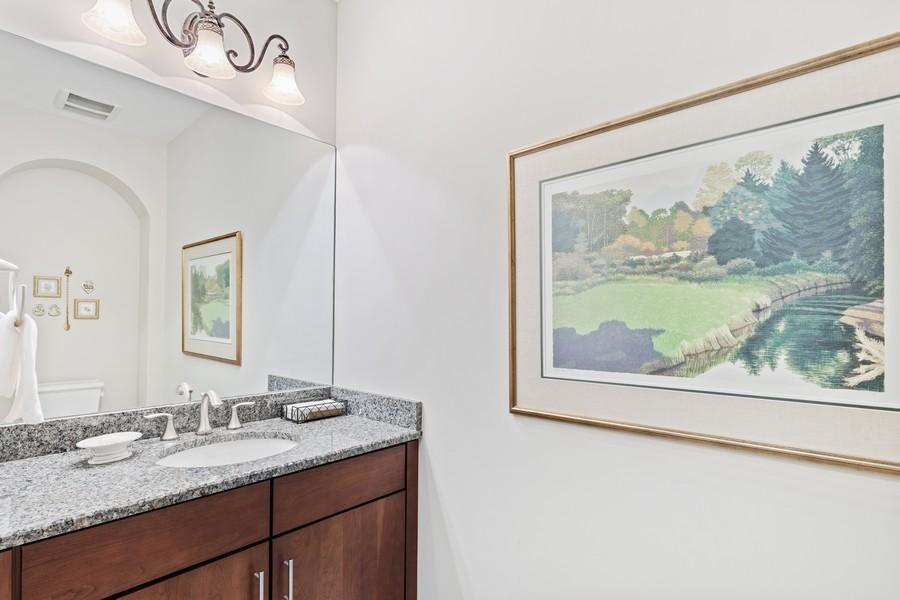 Real Estate Photography - 2768 Tiburon Blvd E, #302, Naples, FL, 34109 - Powder Room