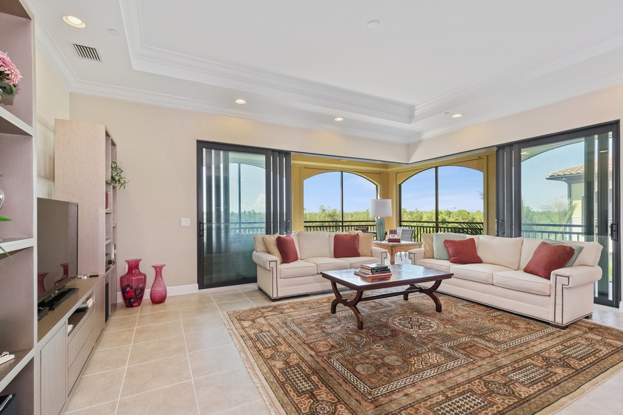 Real Estate Photography - 2768 Tiburon Blvd E, #302, Naples, FL, 34109 - Great room